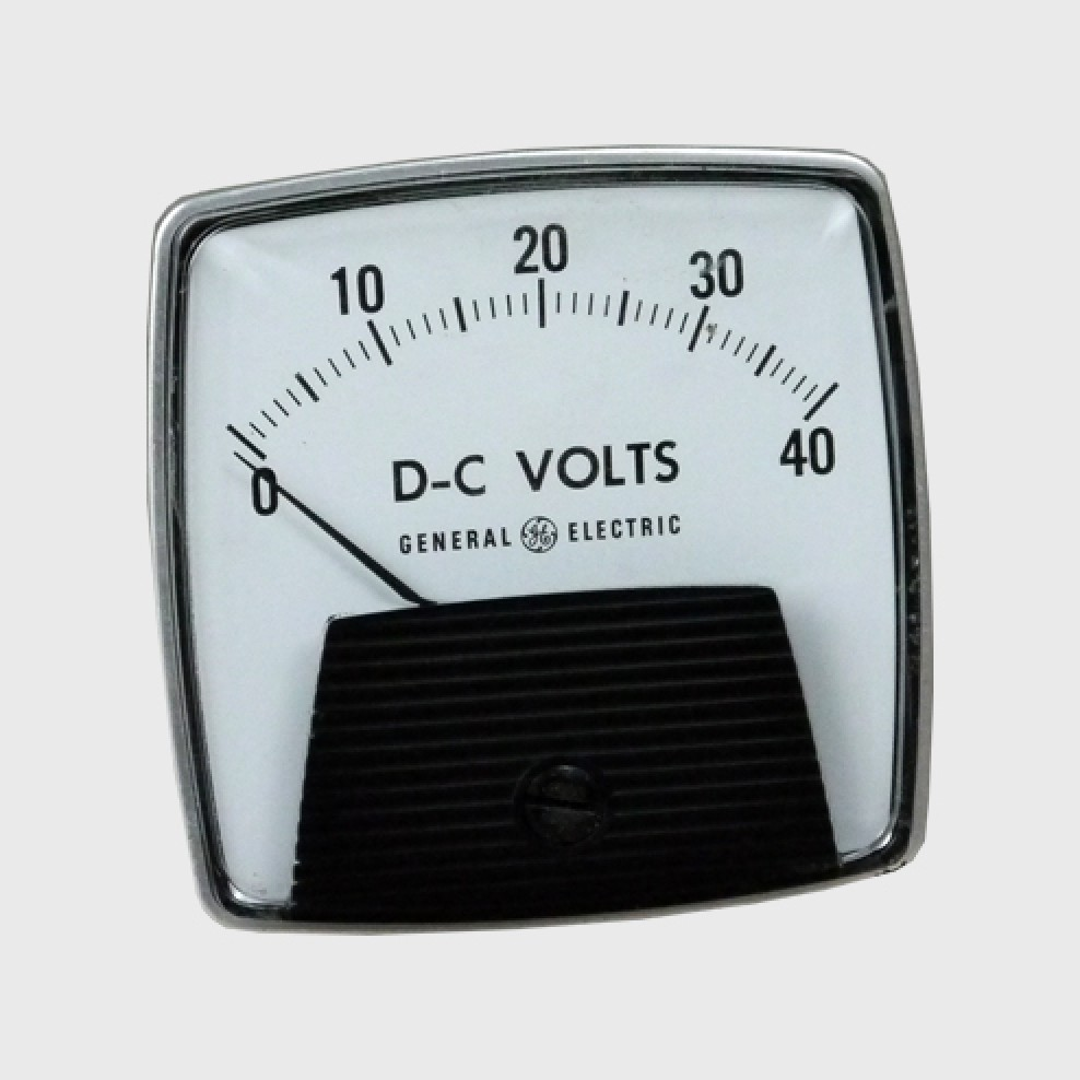 Classic Jetparts Dc Voltmeter General Electric Usa New Old Stock Voltmeters